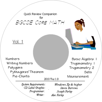 Quick Review Companion For BGCSE Core Math Vol. 1 CD